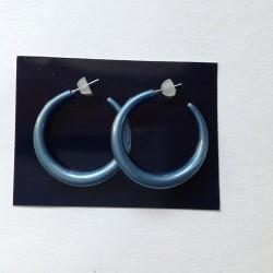 Náušnice kruhy větší modrá...