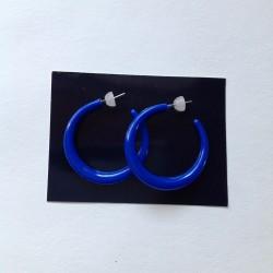 Náušnice kruhy větší modré