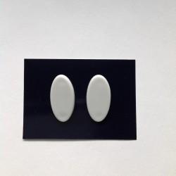 Náušnice klipsy oválky bílé