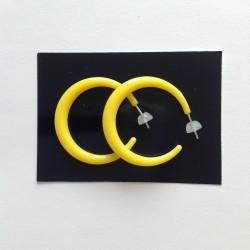 Náušnice kruhy větší žluté